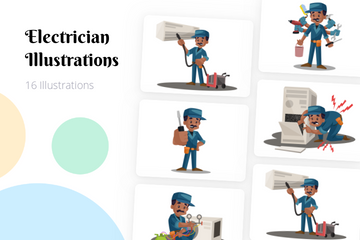 Electrician Illustration Pack