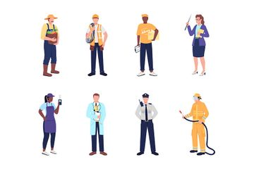 Essential Worker Illustration Pack