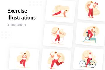 Exercise Illustration Pack