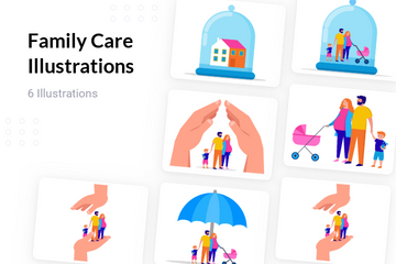 Family Care Illustration Pack