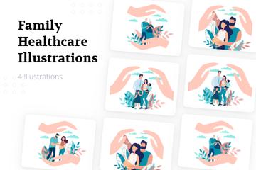 Family Healthcare Illustration Pack