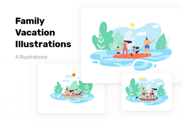Family Vacation Illustration Pack