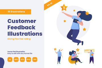 Feedback And Ratings Illustration Pack