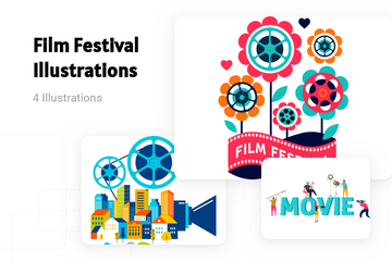 Film Festival Illustration Pack