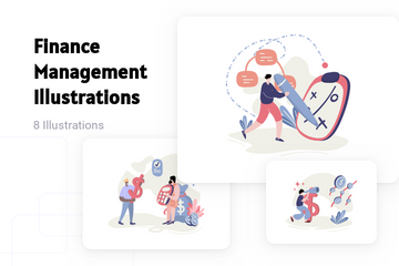 Finance Management Illustration Pack