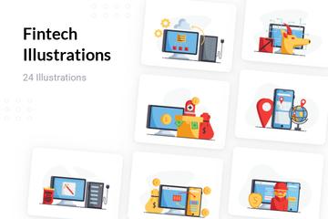 Fintech Illustration Pack