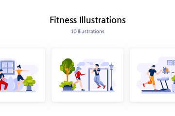 Fitness Illustration Pack
