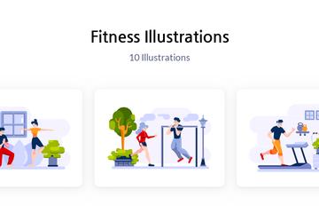 Fitness Illustration Pack