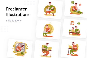 Freelancer Illustration Pack