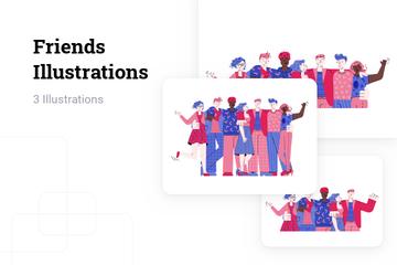 Friends Illustration Pack