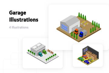 Garage Illustration Pack