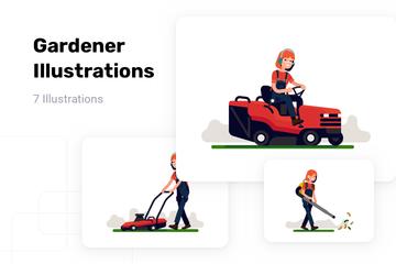 Gardener Illustration Pack