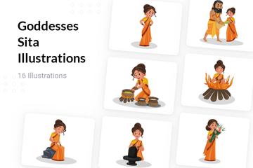 Goddesses Sita Illustration Pack