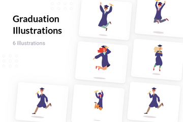 Graduation Illustration Pack