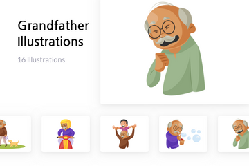 Grandfather Illustration Pack