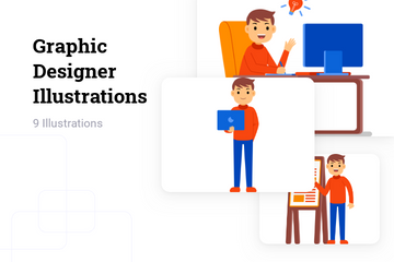 Graphic Designer Illustration Pack