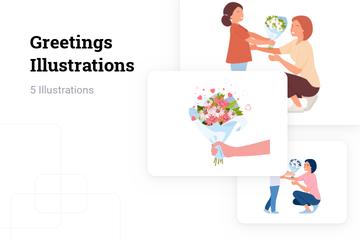 Greetings Illustration Pack
