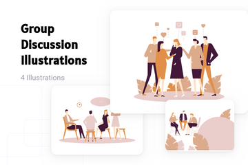 Group Discussion Illustration Pack