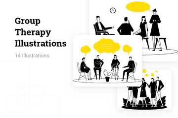 Group Therapy Illustration Pack