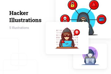 Hacker Illustration Pack