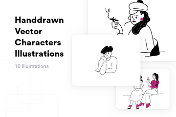 Handdrawn Vector Characters Illustration Pack