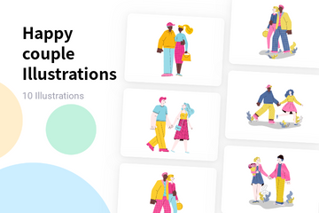Happy Couple Illustration Pack