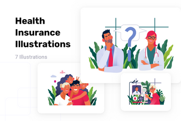 Health Insurance Illustration Pack