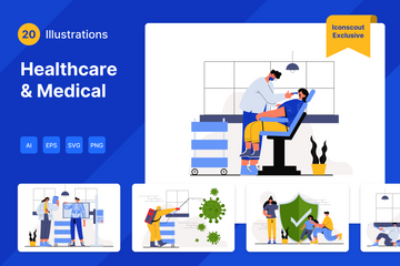 Healthcare And Medical Illustration Pack