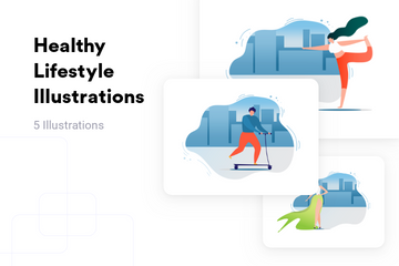 Healthy Lifestyle Illustration Pack