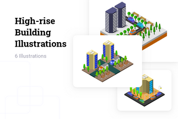 High-rise Building Illustration Pack