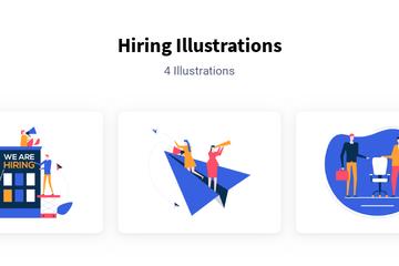 Hiring Illustration Pack