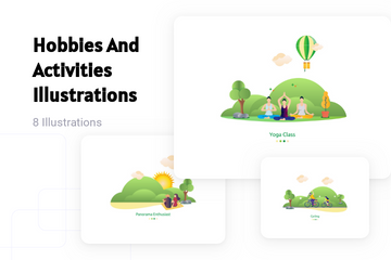 Hobbies And Activities Illustration Pack