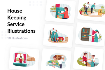 House Keeping Service Illustration Pack