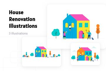 House Renovation Illustration Pack