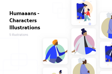 Humaaans - Characters Illustrations