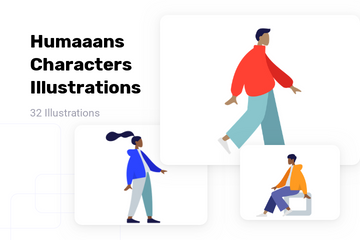 Humaaans Characters Illustrations