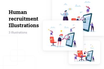 Human Recruitment Illustration Pack