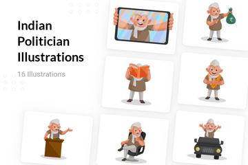 Indian Politician Illustration Pack