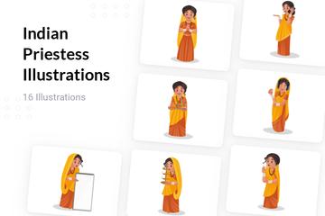Indian Priestess Illustration Pack