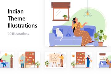 Indian Theme Illustration Pack