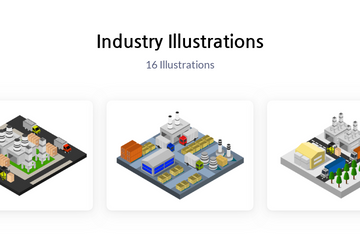 Industry Illustration Pack