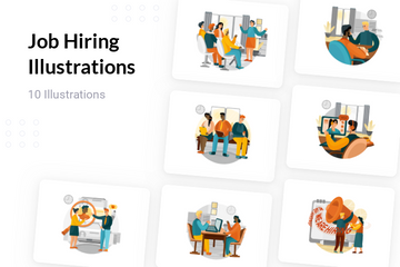 Job Hiring Illustration Pack