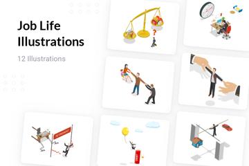 Job Life Illustration Pack