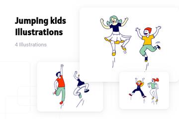 Jumping Kids Illustration Pack