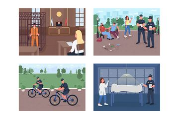 Justice Workers Departments Illustration Pack