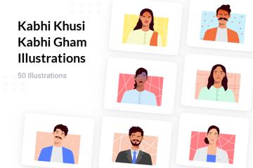Kabhi Khusi Kabhi Gham Illustration Pack