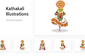 Kathakali Illustration Pack