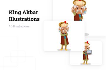 King Akbar Illustration Pack