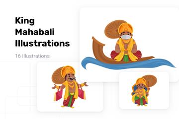 King Mahabali Illustration Pack