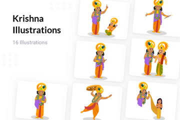Krishna Illustration Pack